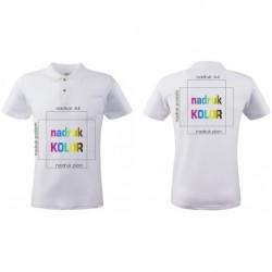 Koszulka z nadrukiem biała POLO A4+A4 DTG
